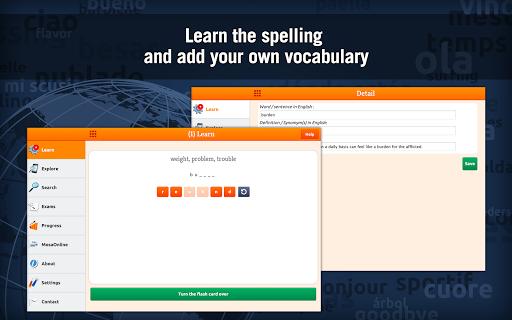 Learn TOEFL Vocabulary - screenshot