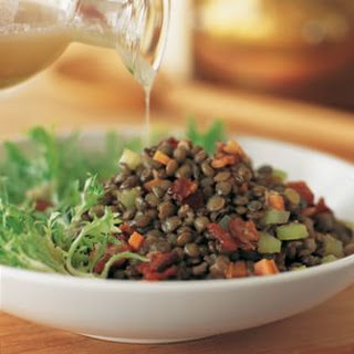 Lentil, Bacon and Frisée Salad