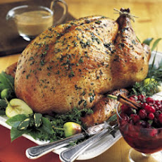 Herb-Roasted Turkey with Apple Cider Gravy