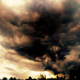 Prescott Sunset by Stephen Schwartzengraber - Landscapes Cloud Formations ( clouds, orange, america, sunset, arizona )