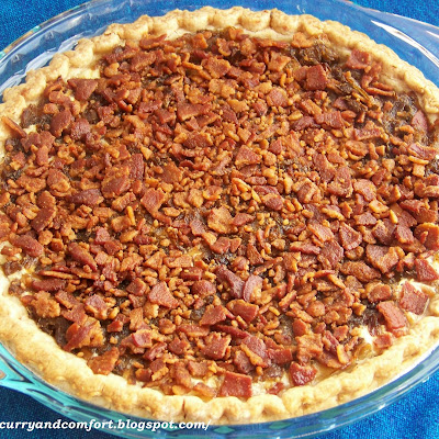 Caramelized Onion and Bacon Pie