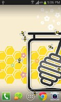 Screenshot of Honey Bees Live Wallpaper Free