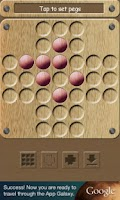 Screenshot of Peg Solitaire (with solution!)