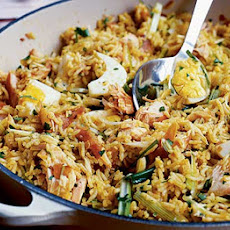 Easy Spiced Salmon Kedgeree
