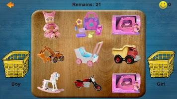 Screenshot of Sort It! for Kids