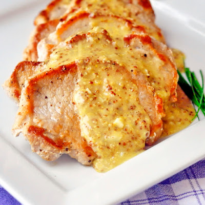 Pan Seared Pork Chops with Dijon Butter Sauce