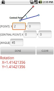 Coordinates calculate Rotation - screenshot