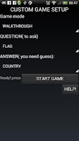 Screenshot of country capital flag quiz game