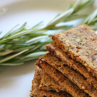 Rosemary Raisin Almond Pulp Crackers