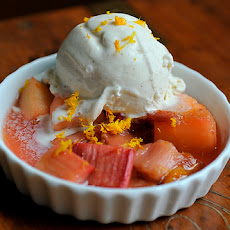Rhubarb with Earl Grey Tea, Cardamom, and Orange Zest
