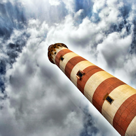 Barra Lighthouse by Antonio Amen - Buildings & Architecture Other Exteriors ( clouds, aveiro, lighthouse, barra lighthouse )