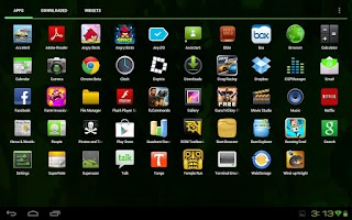 Screenshot of CM9/AOKP Theme SpearmintGum