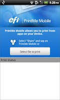 Screenshot of EFI PrintMe Mobile