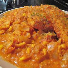 Salmon Fillets in Tomato Sauce