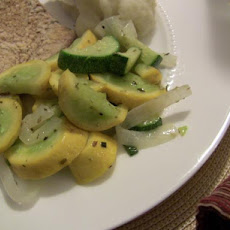 Sauteed Yellow Squash with onion (for 1 or 2)