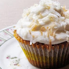Carrot-Coconut Cupcakes with Cream Cheese Frosting