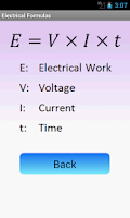 Screenshot of Electrical Formulas