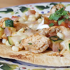 Chicken & Summer Vegetable Tostadas
