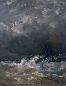 RIJKS: Hendrik Willem Mesdag: Lighthouse in Breaking Waves 1907