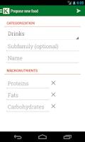Screenshot of Calorie Chart