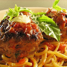 Mediterranean Spaghetti and Meatballs