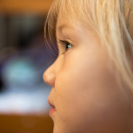 Thoughtful by Scott Cove - Babies & Children Toddlers ( child, thinking, toddler, portrait, emotion )
