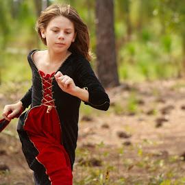 Running by Carol Plummer - Babies & Children Children Candids ( child, girl, trees, candid, fair, running )