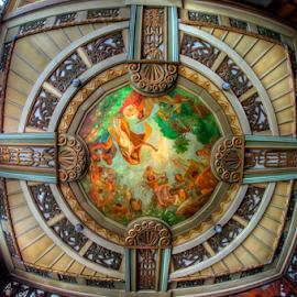 ArtDeco by Pet Salvador - Buildings & Architecture Public & Historical ( hdr, ceiling, ancestral house, architecture, painting, Architecture, Ceilings, Ceiling, Buildings, Building )