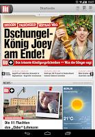 Screenshot of BILD für Tablets - Nachrichten