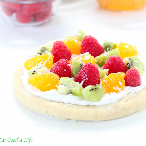 No Bake Fruit Pizza - Gluten Free And Vegan
