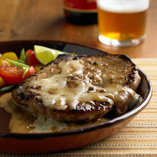 Cheesy Garlic & Rosemary Pork Chops