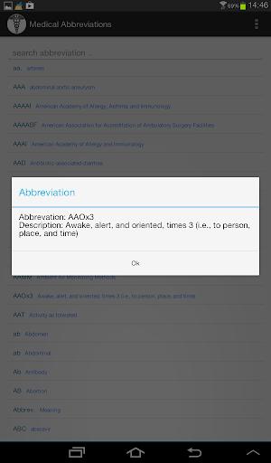 Medical Abbreviations - screenshot