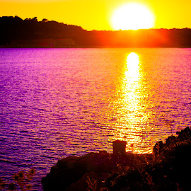 tequilla sunset by Copyright Chaos - Landscapes Sunsets & Sunrises ( adriatic, waterscape, sunset, sea, sunset sea )