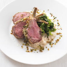 Herb-crusted Rack Of Lamb With White Bean Purée