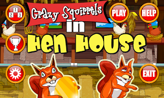 Screenshot of Crazy Squirrels - Hen House