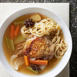Chinese-Style Bone-In Chicken Noodle Soup
