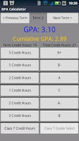 Screenshot of GPA Calculator