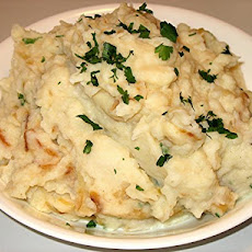 Mashed Potatoes With Caramelized Onions & Horseradish