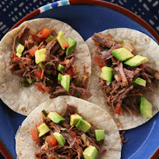 Shredded Beef with Lime and Avocado