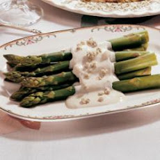 Asparagus with Blue Cheese Sauce