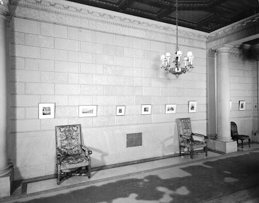 "Charles Meryon's ""Etchings of Paris"" exhibited in the South Hall on the west wall."