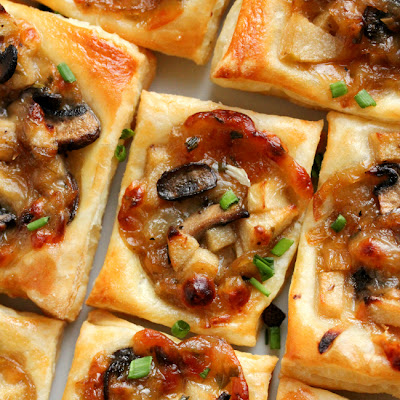 Caramelized Onion, Mushroom, Apple & Gruyere Bites
