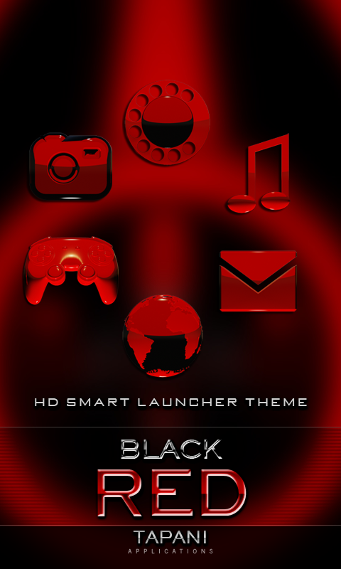 Smart Launcher red GSLTHEME Screenshot 0