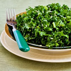 Raw Kale Salad with Pecorino (or Parmesan) and Lemon
