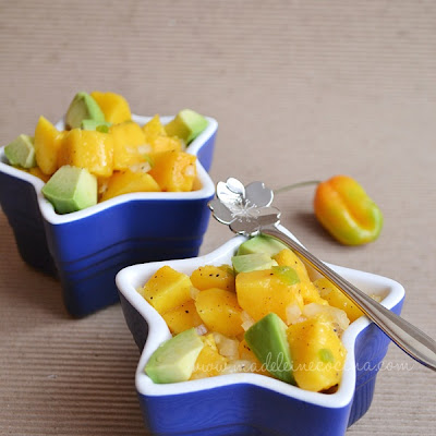 Mango Salad with Habanero Pepper and Avocado