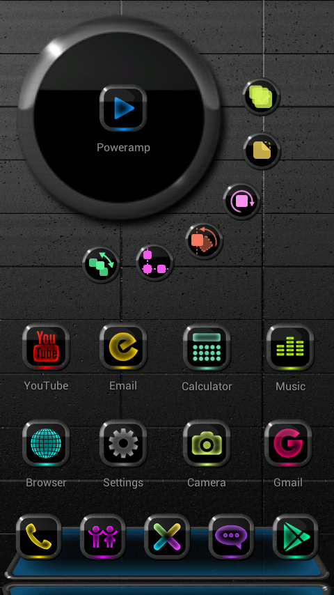 NEW NEON Next Launcher Theme Screenshot 1