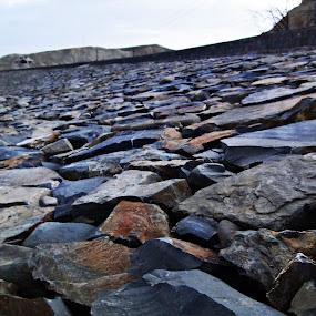 details of embakment of  Khushdil khan Dam, Pishin by Lalaji Anwar - Nature Up Close Rock & Stone