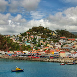 Grenada Color by Jeff Clow - Landscapes Travel ( holiday, port, vacation, harbor, grenada, travel, seaside, boat, caribbean )