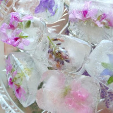 Fresh Flower/Herb Blossom Ice Cubes for Summertime Entertaining