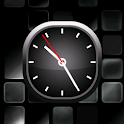 Silver Bold Analog Clock icon